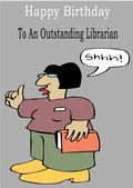 Librarian - Greeting Card